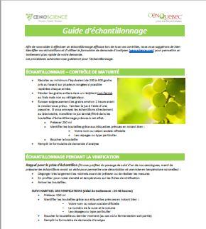 Guide d'échantillonnage